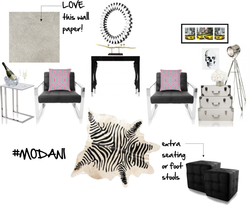 Sensational Glam Living Room Design With Modani Gilty As Charged Onthecornerstone Fun Painted Chair Ideas Images Onthecornerstoneorg