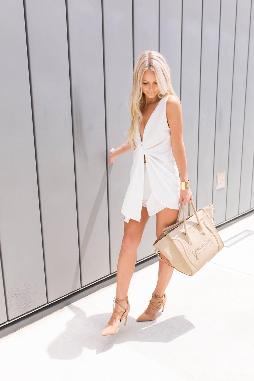 white tie romper sabo skirt