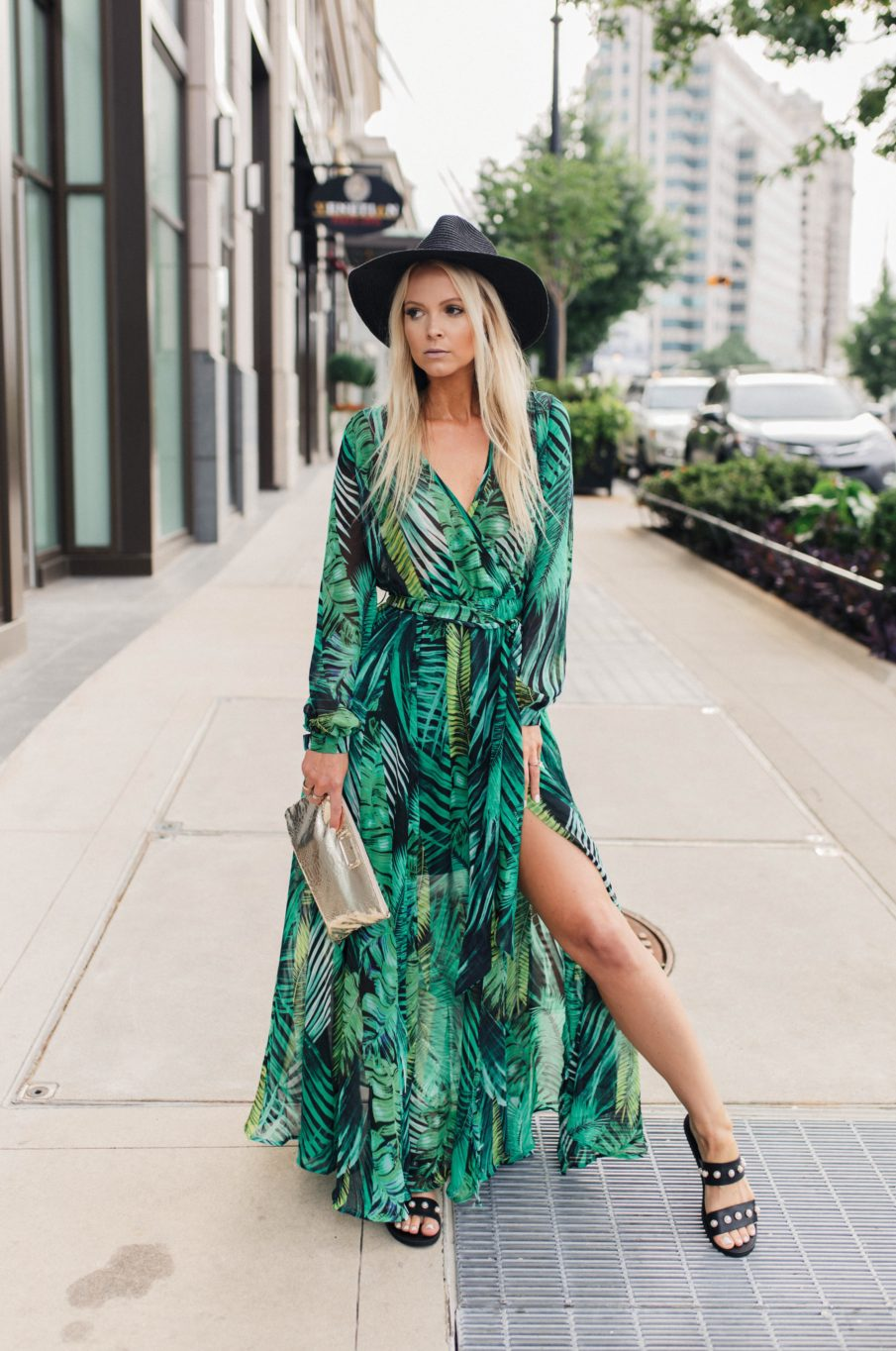 maxi dress with slit
