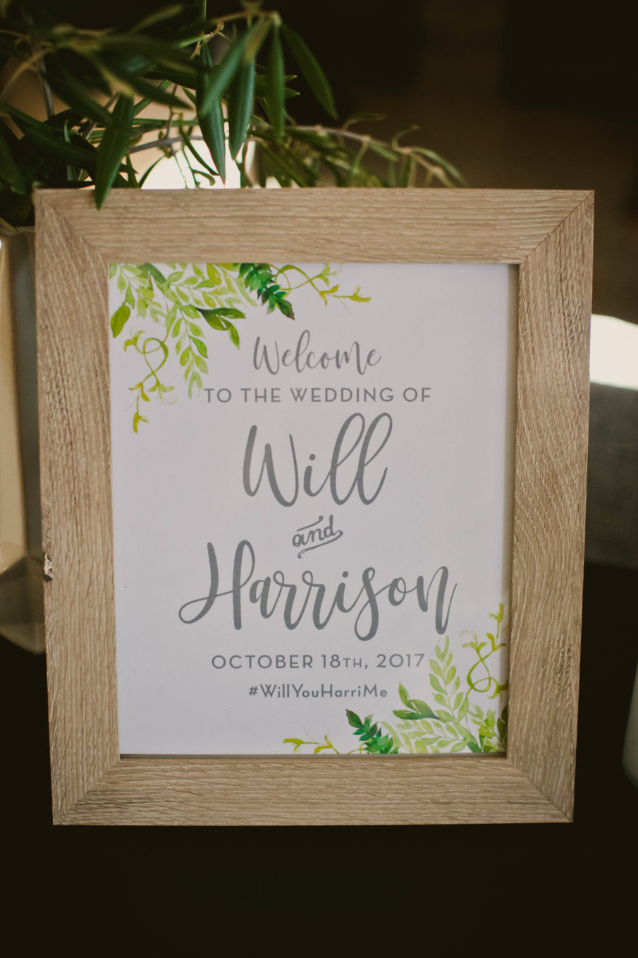 printable wedding welcome sign